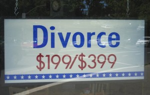 Cheap is not always best when it comes to divorces.  Quick, on the other hand, is a good thing.  (banjo d, Flickr Creative Commons)