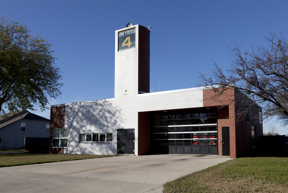As the tower sign makes clear, this is Robert Venturi's Fire Station No. 4.  (Carol M. Highsmith)