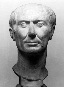 Here's Calendar Man, better known as Julius Caesar, as seen in a bust fashioned during his lifetime.  (Tataryn77, Wikipedia Commons)