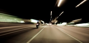 You're one with the road on a motorcycle.  One with it for sure if your cycle crashes.  (Omer Wazir, Flickr Creative Commons)