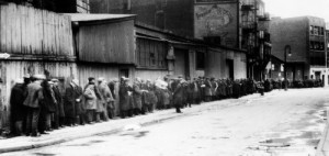 A Depression breadline in Brooklyn, New York.  (Library of Congress)