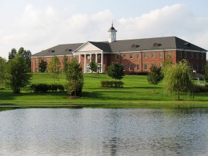 The main administration and classroom building at Patrick Henry College.  (Patrick McKay, Wikipedia Creative Commons)