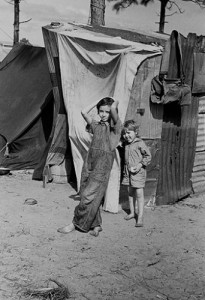 Children at a Florida resettlement camp.  (Library of Congress)