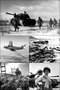 A montage of a distant war.  (U.S. Government)