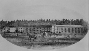 A 19th-Century lithograph of the property.  (Library of Congress)