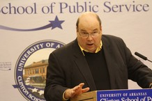 Michael Ford, speaking at the Clinon School of Public Service at the University of Arkansas in Little Rock.  (Xavier University)
