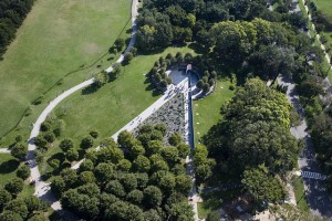 The memorial from the air.  (Carol M. Highsmith)