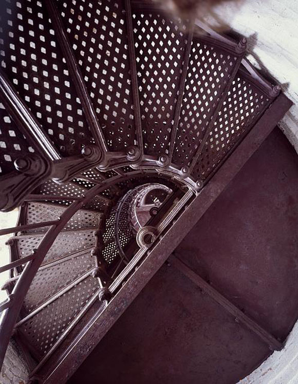 The staircase at Thirty Mile Point Lighthouse on Lake Ontario in New York State. (Carol M. Highsmith)