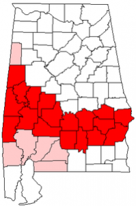 Alabama's Black Belt is a wide one!  (Wikipedia Commons)
