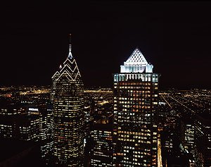 Philadelphia at nightfall.  (Carol M. Highsmith)