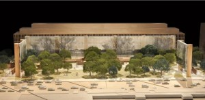 According to the Eisenhower Memorial design, a statue of Ike as a Kansas country boy would appear somewhere in these trees.  (Eisenhower Memorial Commission)