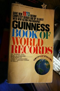 An older, keepsake edition of the Guinness book.  (jma.work, Flickr Creative Commons)
