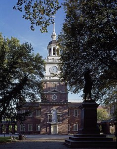 Independence Hall, which was the Pennsylvania Colony's courthouse.  (Carol M. Highsmith)