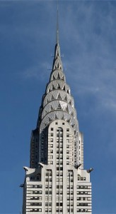 The art-deco spire of the rival Chrysler Building.  (Carol M. Highsmith)