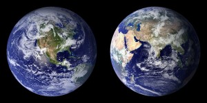 Images such as this always make me think of the fragility, as well as beauty, of our planet.  Same with you?  (NASA Photo)