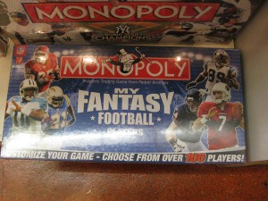 Even the board game Monopoly has a version that gets into the fantasy-football craze.  (mjpeacecorps, Flickr Creative Commons)