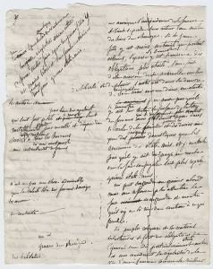 A page from Alexis De Tocqueville's working manuscript.  (Wikipedia Commons)