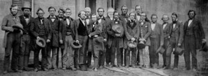 "Some of the ""rescuers"" of the Oberlin citizens on trial for harboring a fugitive slave.  (Wikipedia Commons)"