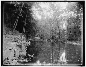 The Bronx's Old Mill, which produced snuff, photographed about 1900.  (Library of Congress)