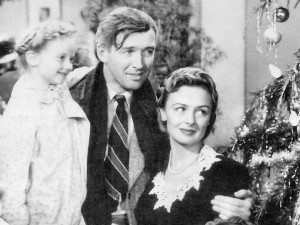 George Bailey (Jimmy Stewart) and his family saved the Savings and Loan in no small measure because the community knew him well. Managers of big banks' branches rarely are in place long enough to develop such trust. (Wikipedia Commons)