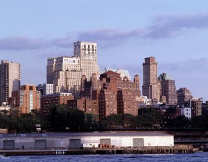 Carol photographed Brooklyn's skyline about 1990.  (Carol M. Highsmith)
