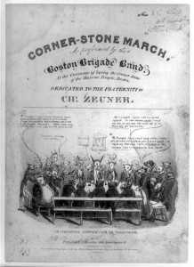 An early, derisive view of the Masonic movement in Boston.  (Library of Congress)