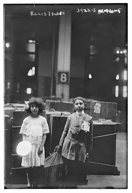 One wonders what became of these children who passed through Ellis Island.  (Library of Congress)