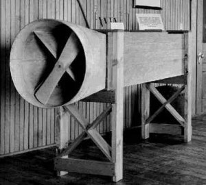 The brothers' homemade wind tunnel.  (Library of Congress)