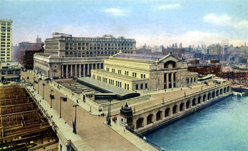 An early view of Chicago Union Station. (Library of Congress)
