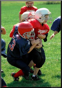 """Pee-wee"" football begins at age 7.  (jdanvers, Flickr Creative Commons)"