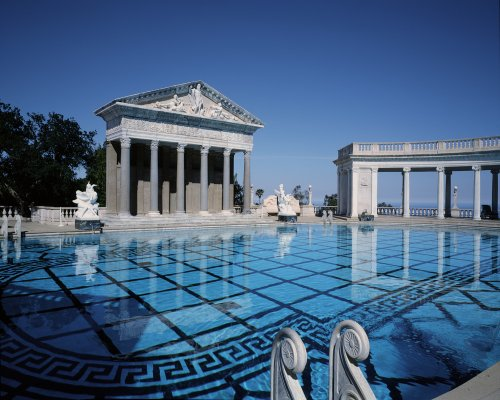 This view of Hearst Castle's pool will make you want to do your homework.  (Carol M. Highsmith)