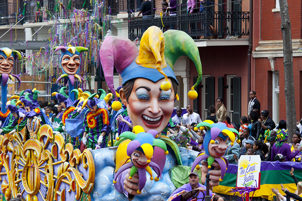 There's no place in America that we like more than New Orleans, and not just at Mardi Gras.  It's a place that knows how to relax and have fun.  Carol and I do the latter, but not always the former, pretty well.  (Carol M. Highsmith)
