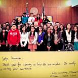 Yargıç'ı Ziyaret Eden Öğrenciler ve Kendisine Yazılmış Bir Teşekkür Mektubu