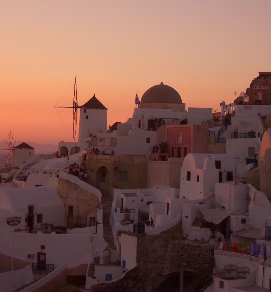 Santorini'de gün batımı... Foto: Selin Süer Ünlü