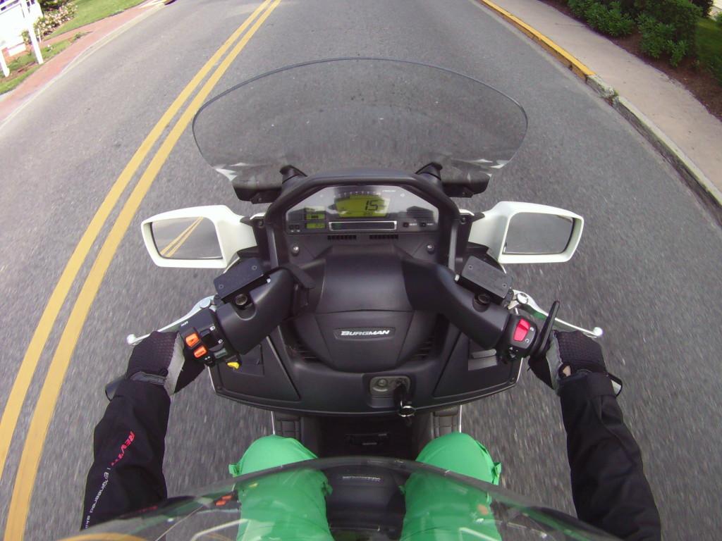 Kuş bakışı Motosikletli Kız :)