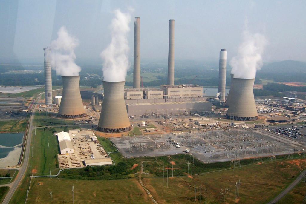Georgia eyaletinde kömürle işleyen bir elektrik santralı