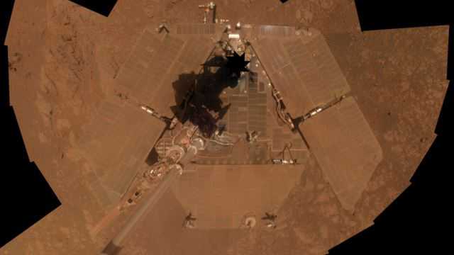 Mars Aracı Oppurtunity'nin 'selfie'si