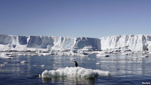 Antarktika'da eriyen buzullar