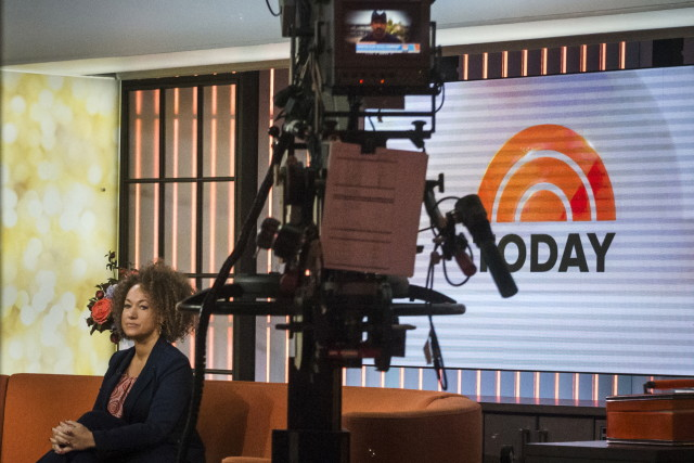 "Rachel Dolezal is seen in the NBC's ""Today"" show studios in Manhattan, New York on June 16, 2015. (Reuters)"