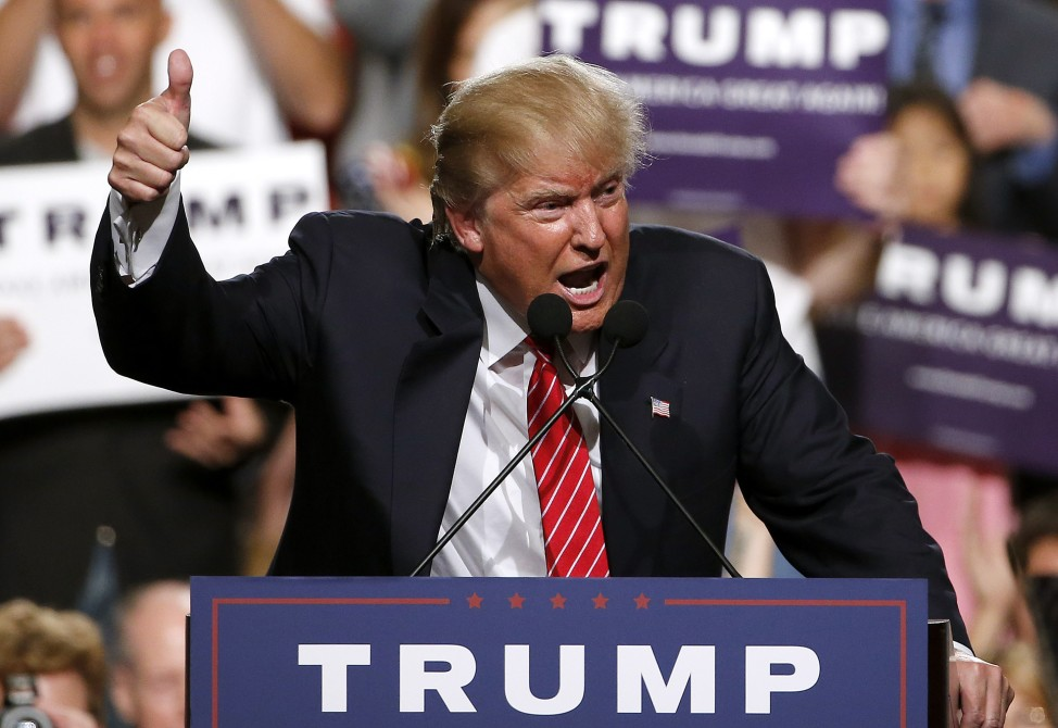 Republican presidential candidate Donald Trump speaks before a crowd of 3,500 on July 11, 2015 in Phoenix, Ariz.. (AP)