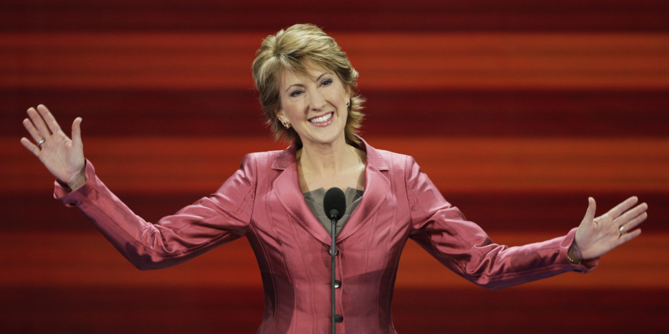 Carly Fiorina, former chairwoman and CEO of Hewlett-Packard Co. and an economic adviser to presidential candidate John McCain, speaks at the Republican National Convention in St. Paul, Minn. on Sept. 3, 2008.  (AP/File)