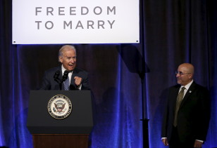 U.S. Vice President Joe Biden speaks at the Freedom to Marry gala celebration in New York, July 9, 2015. (REUTERS)