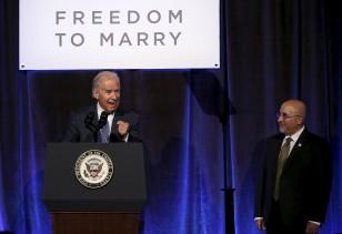 U.S. Vice President Joe Biden speaks at the Freedom to Marry gala celebration in New York, July 9, 2015. (REUTERS)