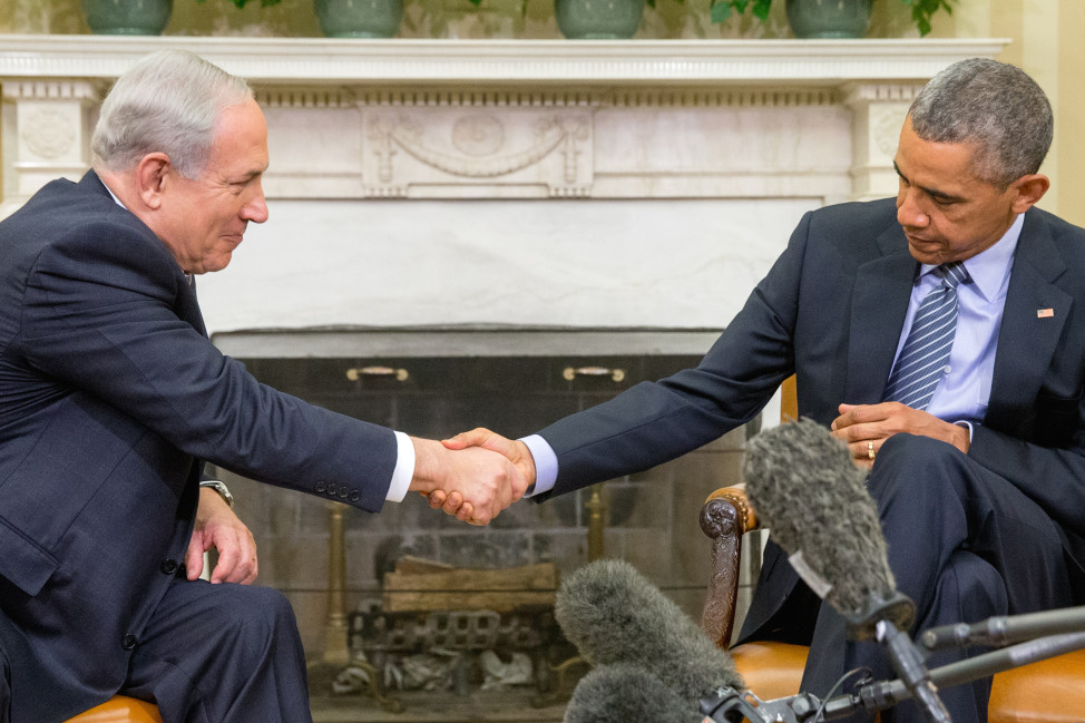President Barack Obama shakes hands with Israeli Prime Minister Benjamin Netanyahu AT the White House on Nov. 9, 2015. The president and prime minister sought to mend their fractured relationship with their first face to face meeting in more than a year. (AP)