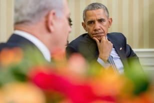 President Barack Obama listens to Israeli Prime Minister Benjamin Netanyahu as he speaks at the White House on Nov. 9, 2015. (AP)