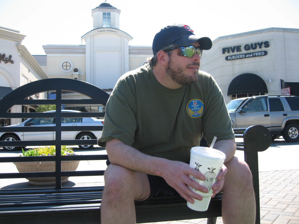 Chris Skidmore, 39, and unemployed,sits on a bench at the North Hills Mall in Raleigh, North Carolina on March 19, 2010.(AP)