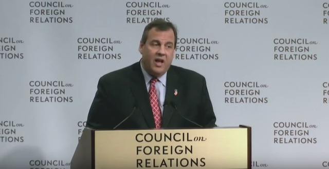 Republican presidential candidate Gov. Chris Christie (NJ) delivers a speech and takes questions on national security and foreign policy at the Council on Foreign Relations in Washington, DC November 24, 2015 (CFR)