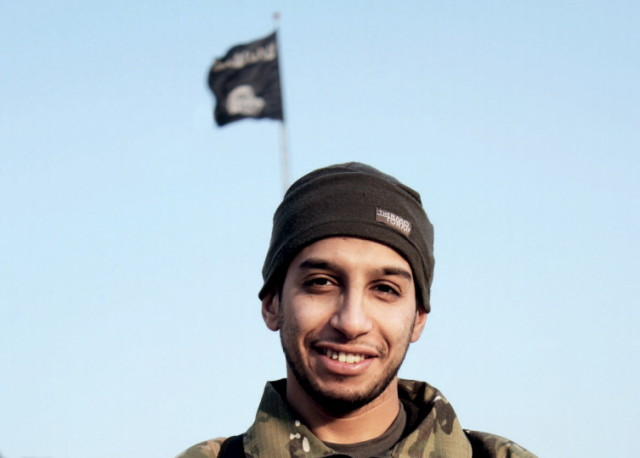An undated photograph of a man described as Abdelhamid Abaaoud, believed to be the architect of terror attacks on Paris, that was published in the Islamic State's online magazine Dabiq. (AP)