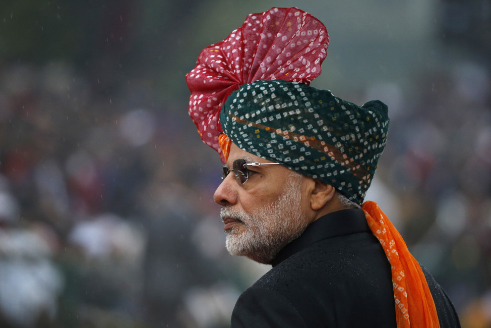 India's Prime Minister Narendra Modi attends India's Republic Day parade in New Delhi on Jan. 26, 2015. (Rteuters)