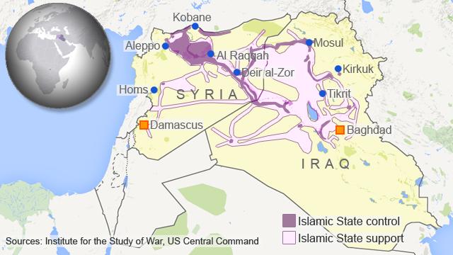 syria map - control
